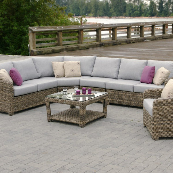 Latest Princeville Curved Sectional By Ratana With Patio Furniture Stores  San Diego