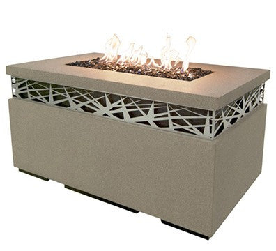 Nest Rectangular Firetable - Skylar's Home and Patio