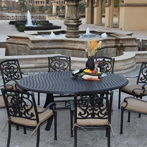 Santa Barbara Dining Set (8 Person) - Skylar's Home and Patio