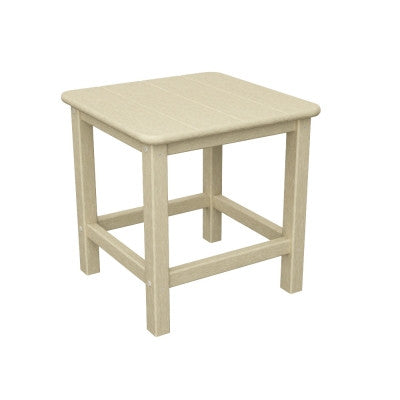 "POLYWOOD® Seashell 18"" Side Table - Coffee & End Tables San Diego"