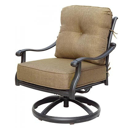 San Marcos Swivel Rocker Club Chair - Skylar's Home and Patio