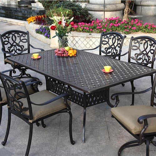 Santa Monica Dining  Set (6 Person) - Skylar's Home and Patio