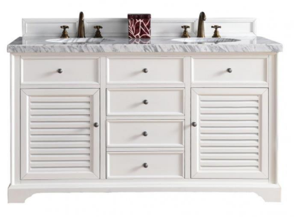 "Savannah 60"" Double Vanity Cabinet - Skylar's Home and Patio"