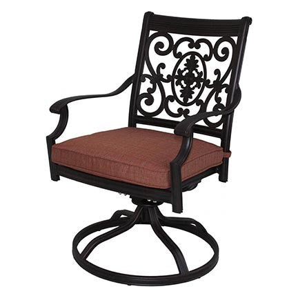 St. Cruz Swivel Rocker Dining Chair - Skylar's Home and Patio
