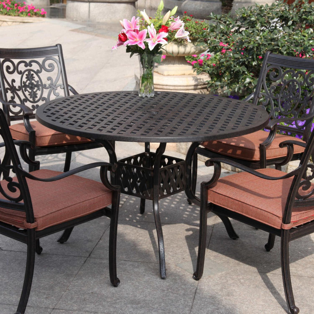 St. Cruz Dining Set (4pc) - Skylar's Home and Patio