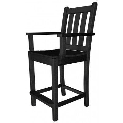 POLYWOOD® Traditional Garden Counter Arm Chair - Skylar's Home and Patio