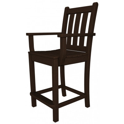 Polywood Arm Chairs San Diego - Traditional Garden Counter Arm Chair