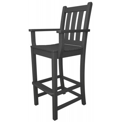 POLYWOOD® Traditional Garden Bar Arm Chair - Skylar's Home and Patio