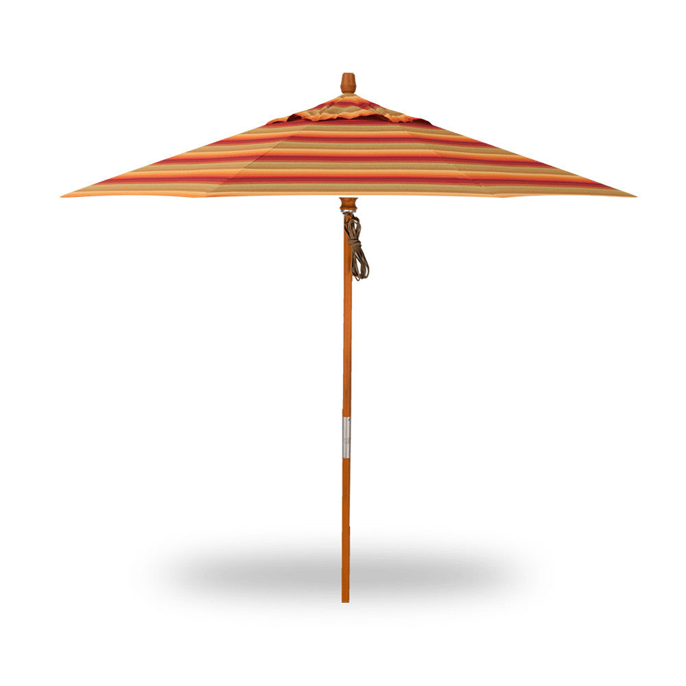 9′ Quad Pulley Lift Market Umbrella - Octagon