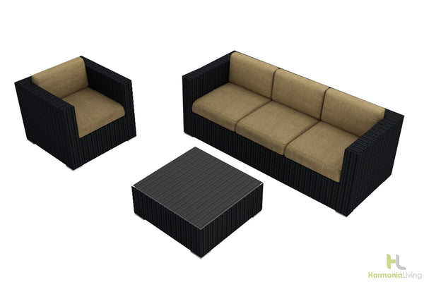 Urbana Coffee Bean 3 Pc. Sofa Set