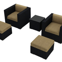 Urbana Coffee Bean 5 Pc. Club Chair Set - Skylar's Home and Patio