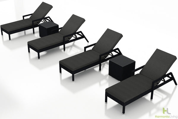 Urbana Coffee Bean 6 Pc. Chaise Lounge Set