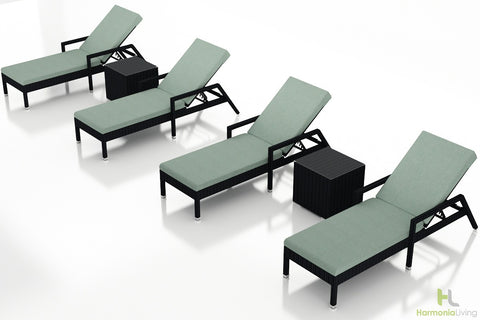 Urbana Coffee Bean 6 Pc. Chaise Lounge Set - Skylar's Home and Patio