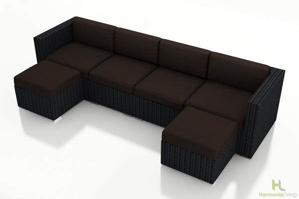 Urbana Coffee Bean 6 Pc. Sectional Set