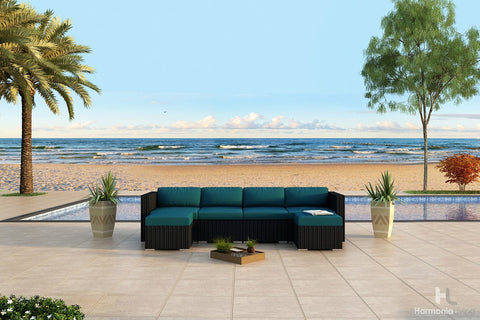 Urbana Coffee Bean 6 Pc. Sectional Set - Skylar's Home and Patio
