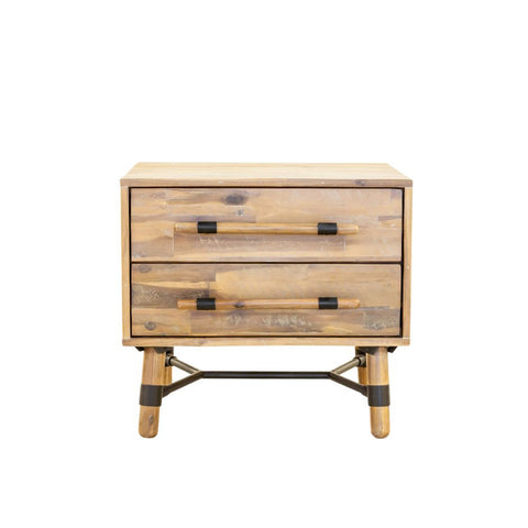 Hudson 2 Drawer Nightstand - Skylar's Home and Patio