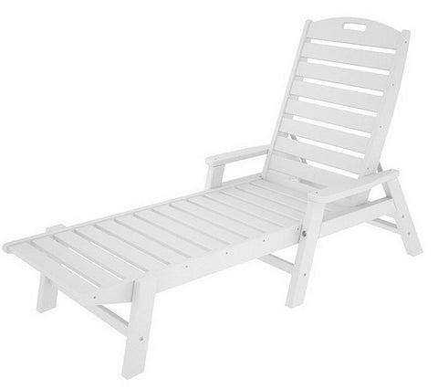 POLYWOOD® Nautical Chaise Lounge - Skylar's Home and Patio