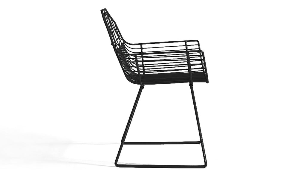 Bryce Dining Arm Chair - Matte Black - Skylar's Home and Patio
