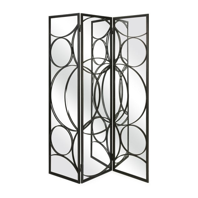 Serline Mirror and Iron Floor Screen | Skylar\'s Home and Patio