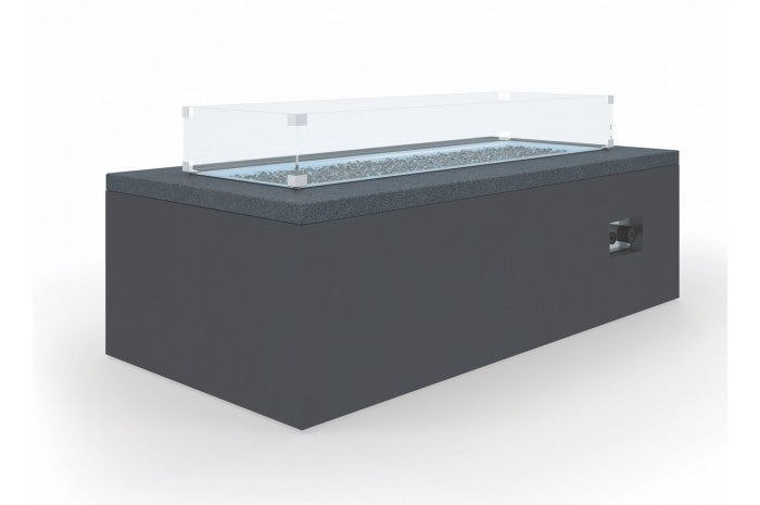 "Milano 60"" Honed Absolute Granite Slate Rectangle Fire Table - Skylar's Home and Patio"