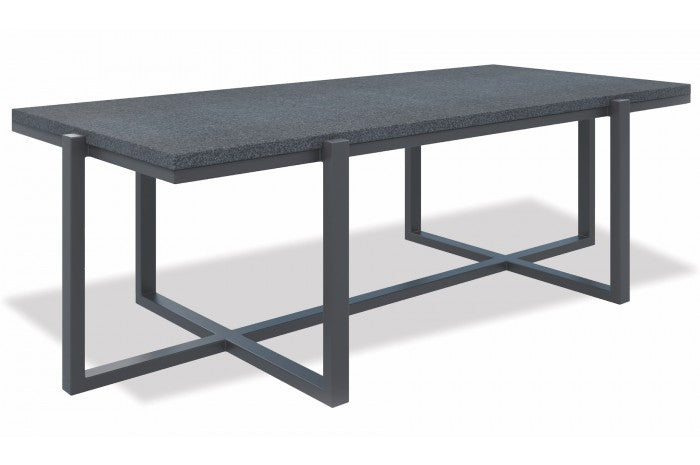 Redondo Rectangle Table with Honed Granite - Skylar's Home and Patio
