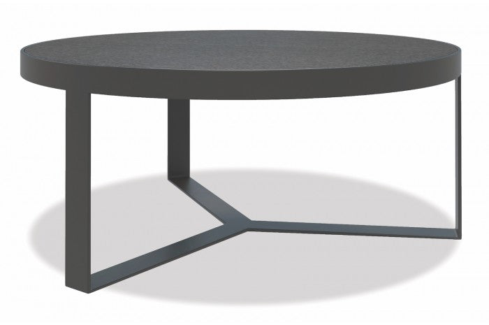"Milano 38"" Honed Granite Round Coffee Table - Skylar's Home and Patio"