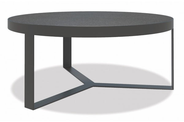 "Redondo 38"" Honed Granite Round Coffee Table - Skylar's Home and Patio"