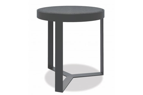 "Milano 18"" Honed Granite Round End Table - Skylar's Home and Patio"
