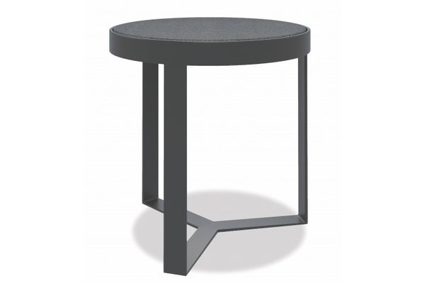 "Redondo 18"" Honed Granite Round End Table - Skylar's Home and Patio"