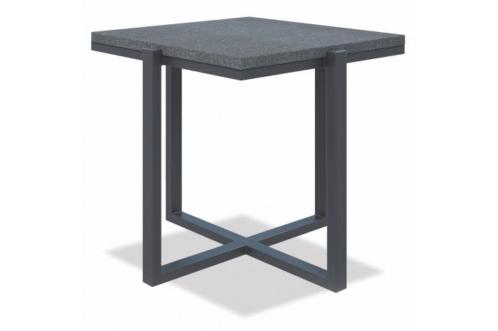 Redondo Square End Table with Honed Granite - Skylar's Home and Patio