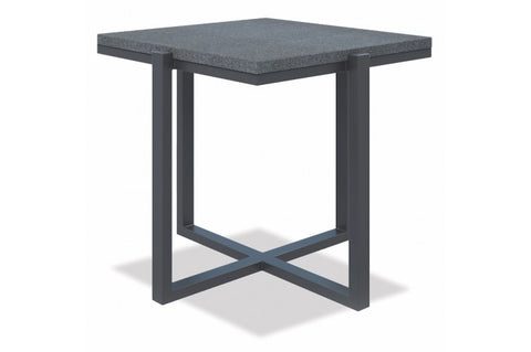 Milano Square End Table with Honed Granite - Skylar's Home and Patio