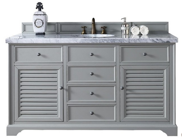 "Savannah 60"" Single Vanity Cabinet - Skylar's Home and Patio"