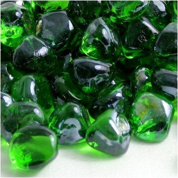 Shamrock Green Luster Zircon Fire Glass - Skylar's Home and Patio