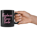 BADASS BOSS BABE Ceramic Black Mug - FabulousLife