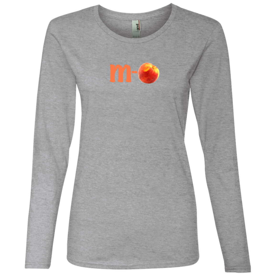 """M-PEACH"" Lightweight Ladies Long Sleeve t-Shirt - FabulousLife"