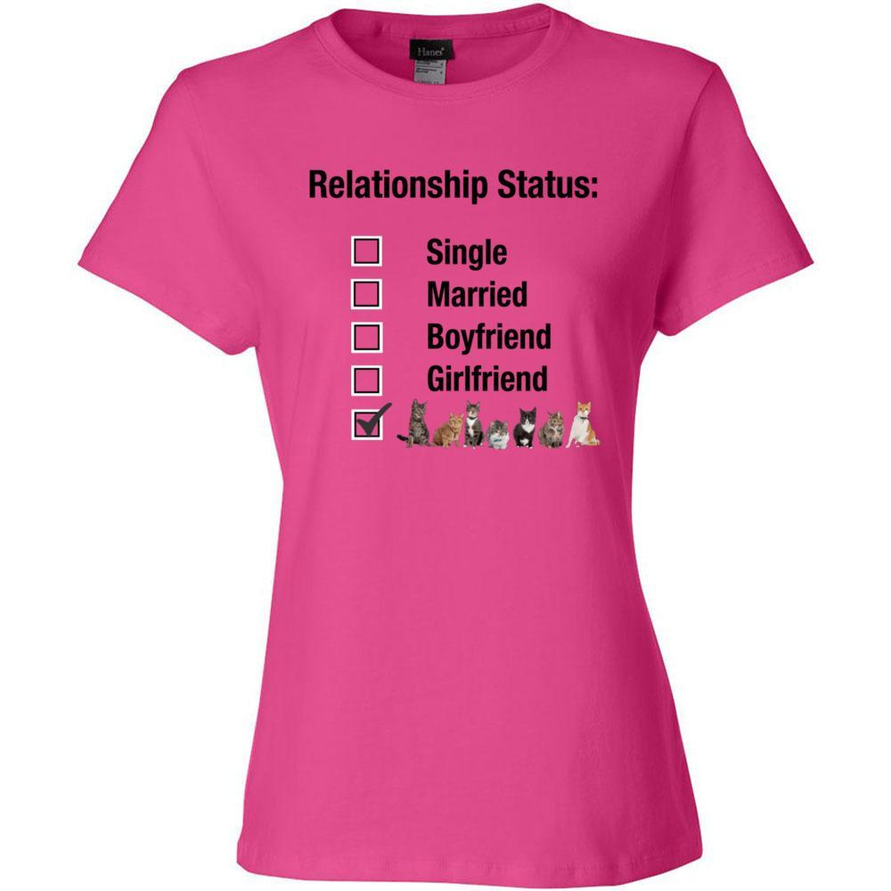 CAT LOVER Relationship Fitted T-Shirt-100% Cotton,  EXCLUSIVE-Not Sold Anywhere Else! - FabulousLife