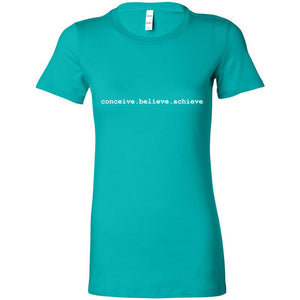 CONCEIVE. BELIEVE. ACHIEVE Fitted Cotton T-Shirt - FabulousLife