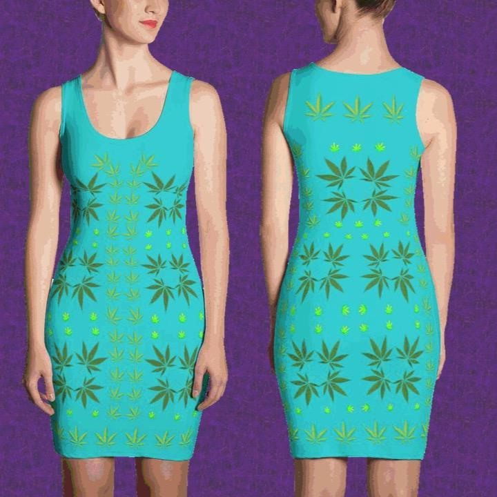 FASHION 420: Sexy Turquoise Fitted Designer Print Dress, Exclusive! - FabulousLife