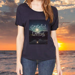 GRATEFUL LIVING:  Celebrate Gratitude Watch the Miracles Begin!  Relaxed Fit T-Shirt - FabulousLife