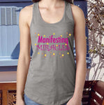 MANIFESTING MIRACLES Fitted Racerback Tank Top - FabulousLife