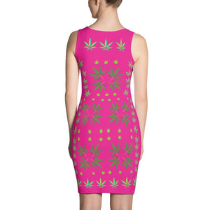 FASHION 420: Sexy Hot Pink Custom Design Print Dress, Exclusive! - FabulousLife