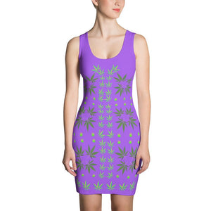FASHION 420: Sexy Purple Fitted Designer Print Dress, Exclusive! - FabulousLife