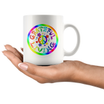 GRATEFUL LIVING-Rainbow Design on High Gloss Ceramic 11oz Mug - FabulousLife