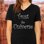 TRUST THE UNIVERSE - Unisex Short Sleeve V-Neck Jersey T-Shirt - FabulousLife