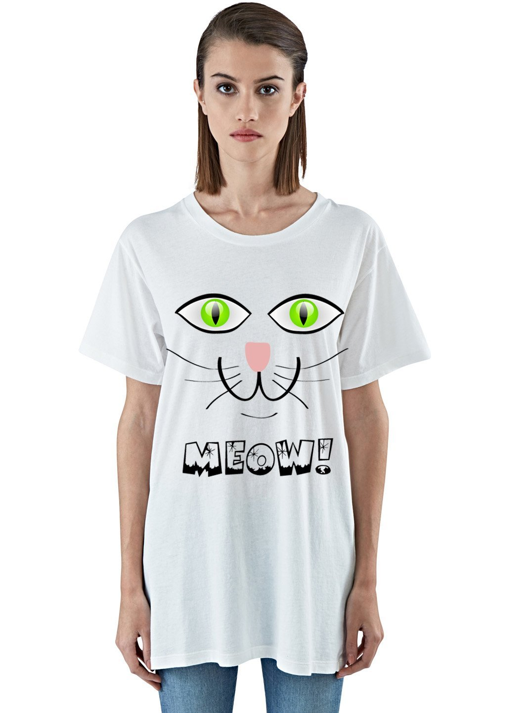 """MEOW"" Short-Sleeve Unisex T-Shirt, Smiling Cat Face! - FabulousLife"