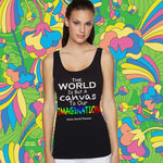 THE WORLD IS A CANVAS TO OUR IMAGINATION Racerback Tank Top - FabulousLife