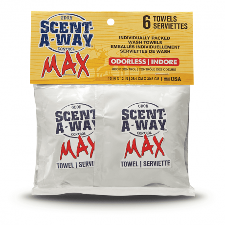 Scent-A-Way MAX Individual Wash Towels - Hunters Specialties