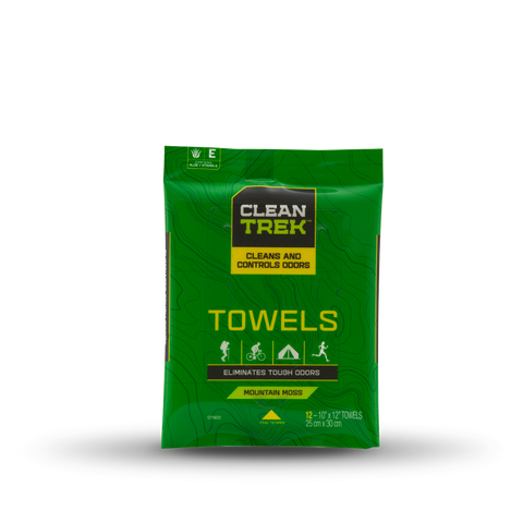 Clean Trek Odor Control Body Towels 12-Pk - Hunters Specialties