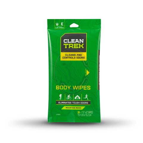 Clean Trek Odor Control Body Wipes 24-Pk - Hunters Specialties