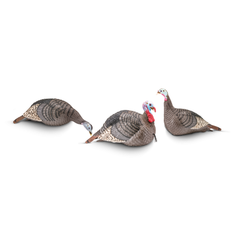 HS STRUT-Lite Flock Decoy 3-Pack - 100006 - Hunters Specialties
